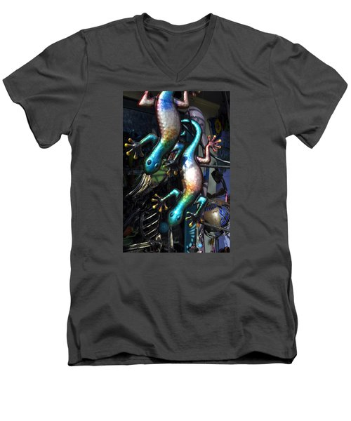 Men's V-Neck T-Shirt featuring the photograph Color Caudata by Allen Carroll