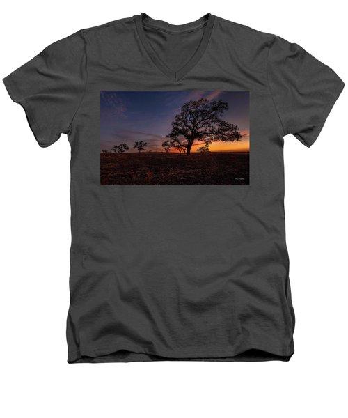 Color Change At First Light Men's V-Neck T-Shirt