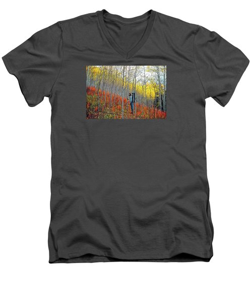 Color Fall Men's V-Neck T-Shirt