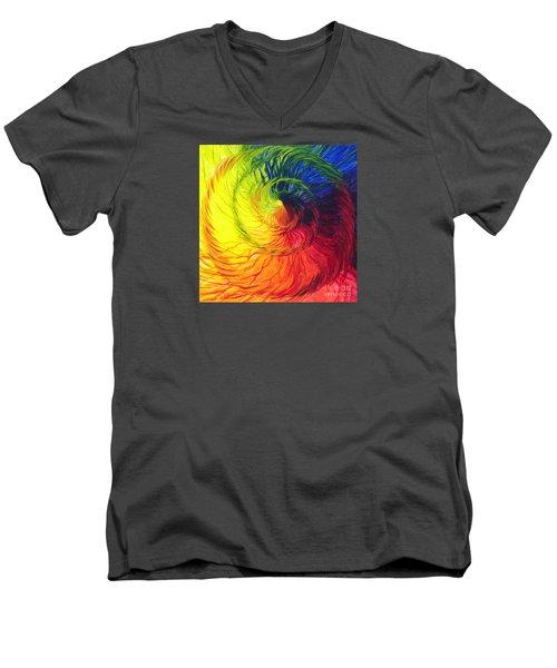 Color Men's V-Neck T-Shirt by Jeanette Jarmon