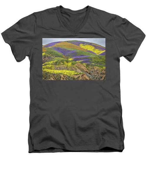 Men's V-Neck T-Shirt featuring the photograph Color Mountain II by Peter Tellone