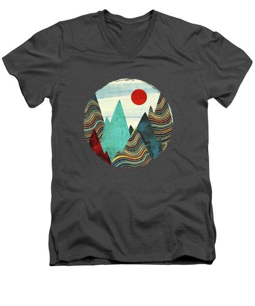 Color Peaks Men's V-Neck T-Shirt