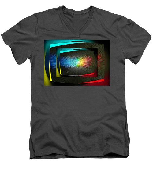 Color Tv Men's V-Neck T-Shirt