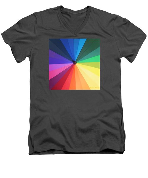 Color Wheel Men's V-Neck T-Shirt by Denise Fulmer