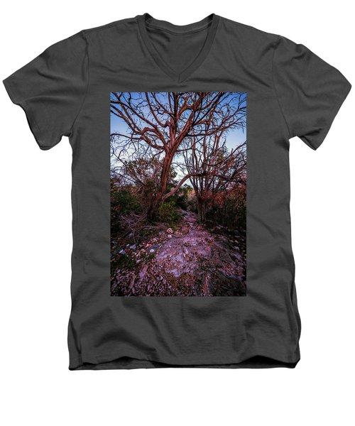 Colorado Bend State Park Gorman Falls Trail #3 Men's V-Neck T-Shirt by Micah Goff
