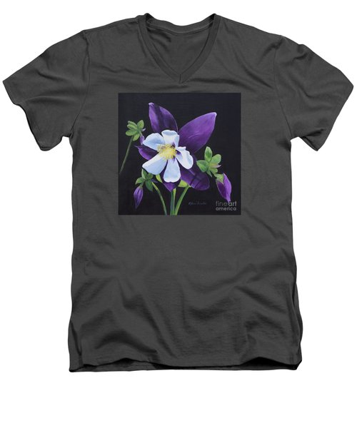 Colorado Blue Columbine Men's V-Neck T-Shirt