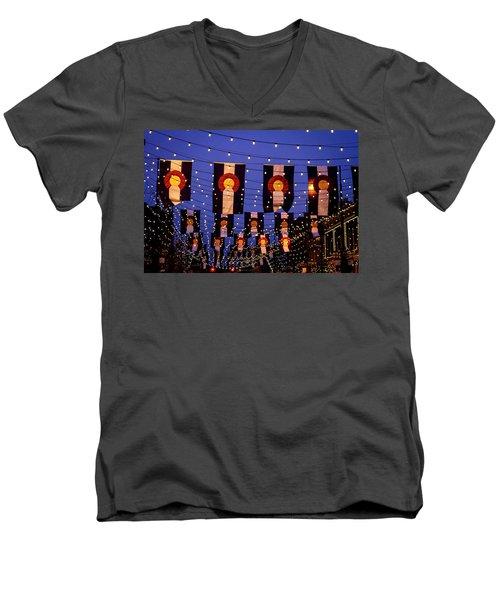 Colorado Flags On Larimer Square Denver Men's V-Neck T-Shirt