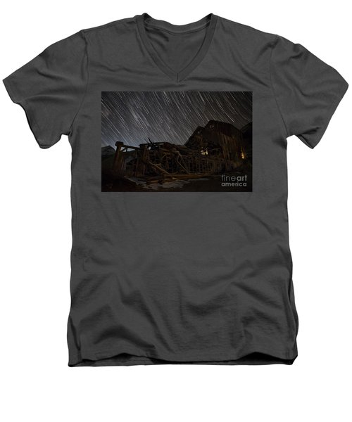 Colorado Gold Mine Men's V-Neck T-Shirt by Keith Kapple