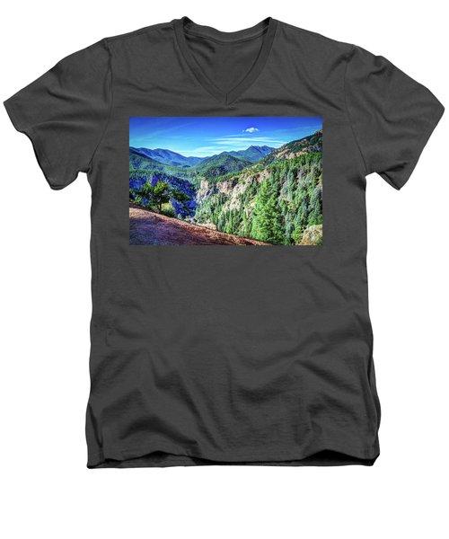 Colorado Haven Men's V-Neck T-Shirt by Deborah Klubertanz