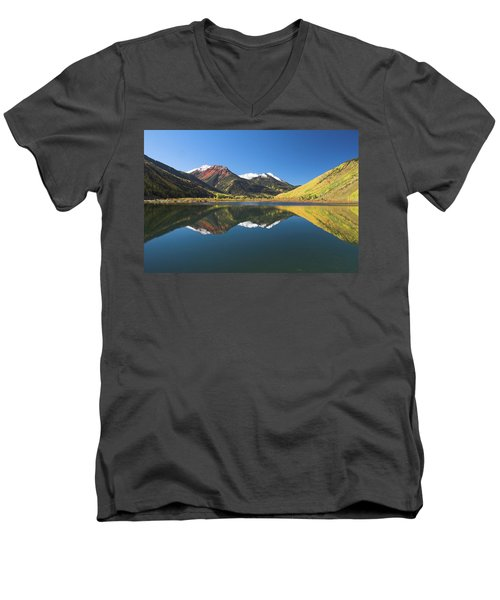 Men's V-Neck T-Shirt featuring the photograph Colorado Reflections by Steve Stuller