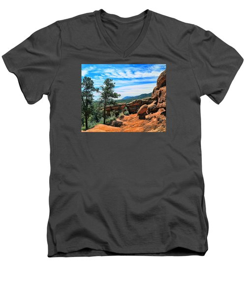 Colorado Rocks Men's V-Neck T-Shirt by John Bushnell