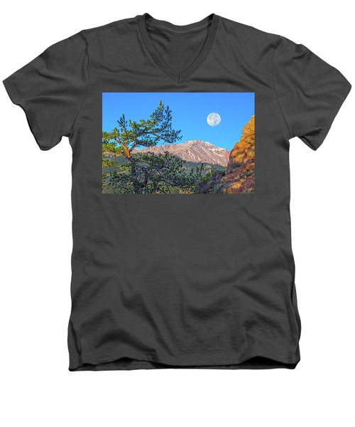 Colorado Rocky Mountain High, Just A Breath Away From Heaven Men's V-Neck T-Shirt