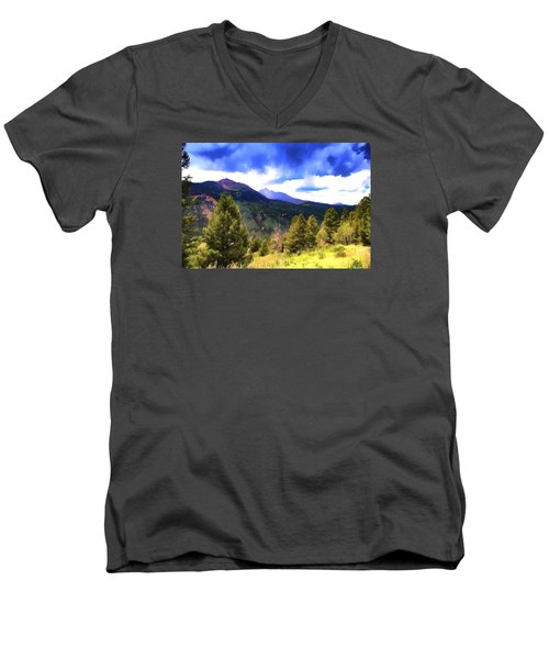 Colorado Watercolor Men's V-Neck T-Shirt