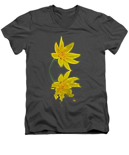 Colorado Wildflower Men's V-Neck T-Shirt by Shane Bechler