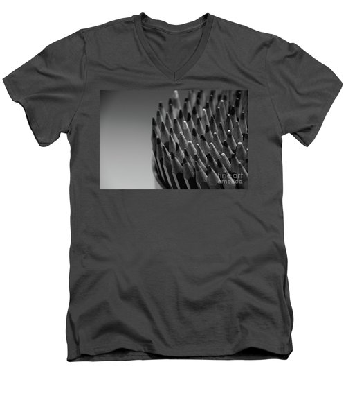 Colored Pencils - Black And White Men's V-Neck T-Shirt