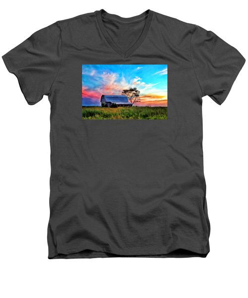 Colored Sunrise Men's V-Neck T-Shirt