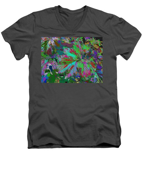 Colorfication - Leafy Colored Men's V-Neck T-Shirt