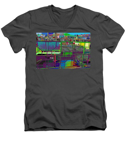 colorfication of Chinatown  Men's V-Neck T-Shirt