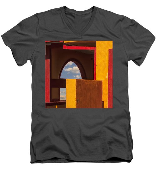 Colorful Adobe One Men's V-Neck T-Shirt by Gary Warnimont