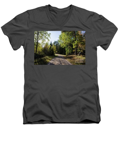 Men's V-Neck T-Shirt featuring the photograph Colorful Adventure by Kennerth and Birgitta Kullman