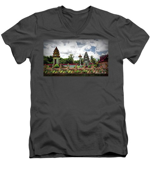 Colorful Architecture Siem Reap Cambodia  Men's V-Neck T-Shirt