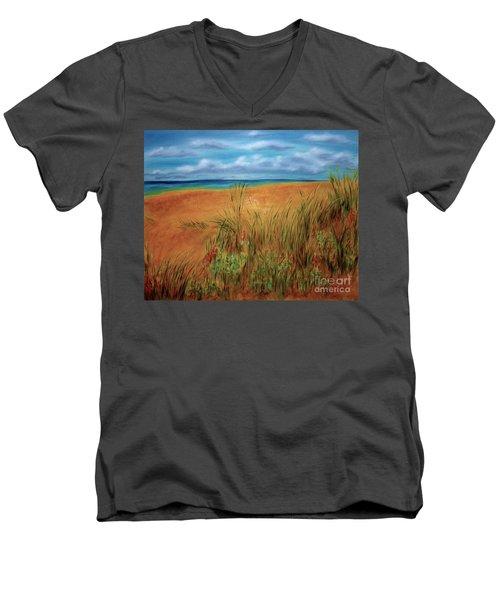Colorful Beach Men's V-Neck T-Shirt