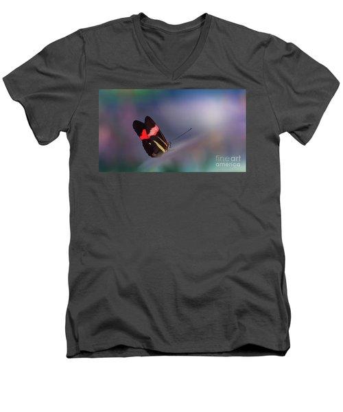 colorful Butterfly Men's V-Neck T-Shirt