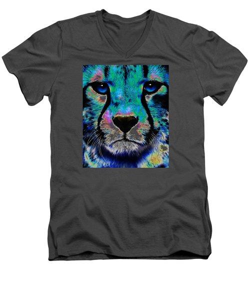 Colorful Cheetah Men's V-Neck T-Shirt
