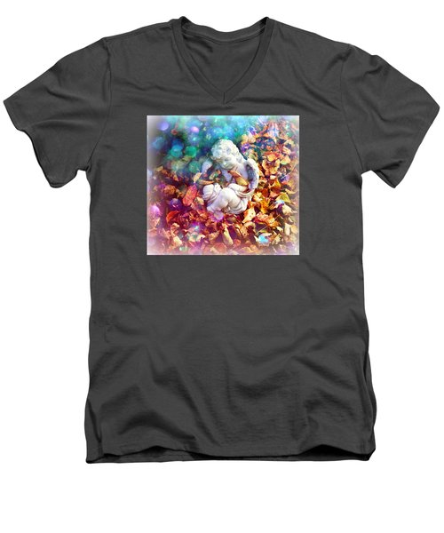 Colorful Cherub Men's V-Neck T-Shirt