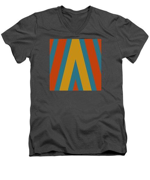 Colorful Chevrons Men's V-Neck T-Shirt by Bonnie Bruno