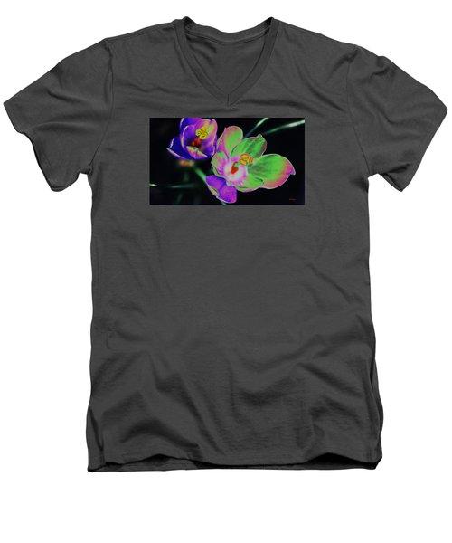 Colorful Flowers Men's V-Neck T-Shirt