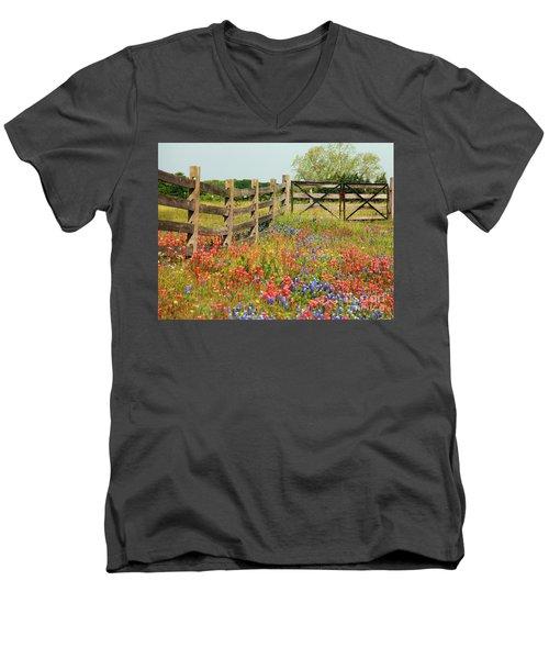 Colorful Gate Men's V-Neck T-Shirt