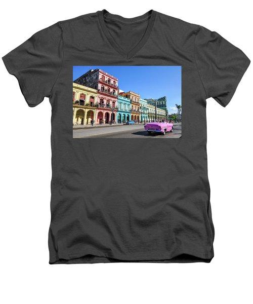 Colorful Havana Men's V-Neck T-Shirt