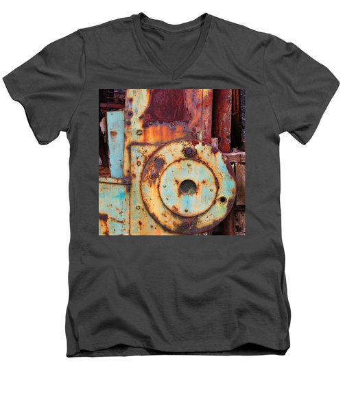 Colorful Industrial Plates Men's V-Neck T-Shirt