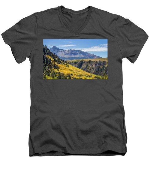 Colorful Mountains Near Telluride Men's V-Neck T-Shirt