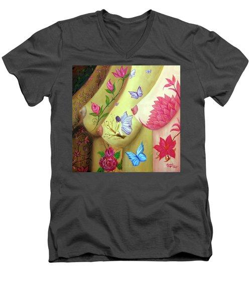 Colorful Palette Men's V-Neck T-Shirt