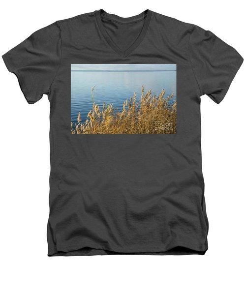 Colorful Reeds Men's V-Neck T-Shirt by Kennerth and Birgitta Kullman