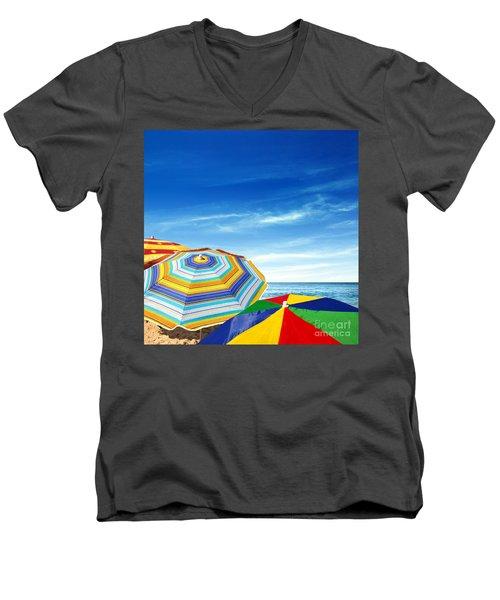 Colorful Sunshades Men's V-Neck T-Shirt