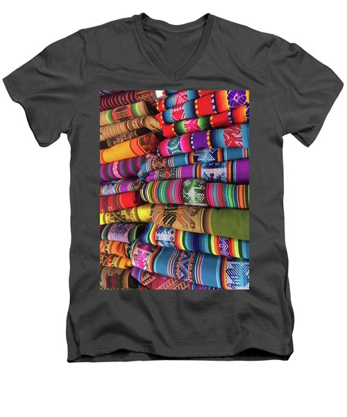 Colorful Tablecloths Men's V-Neck T-Shirt