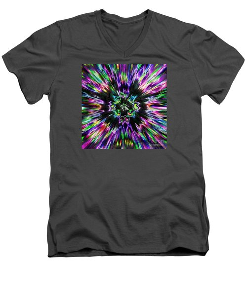 Colorful Tie Dye Abstract Men's V-Neck T-Shirt