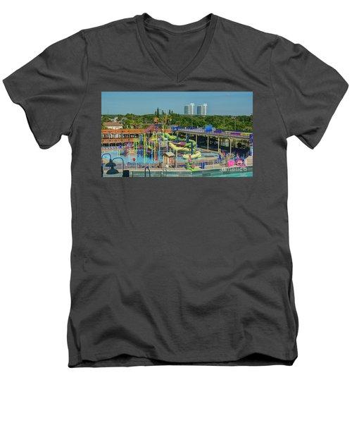 Colorful Water Park Men's V-Neck T-Shirt