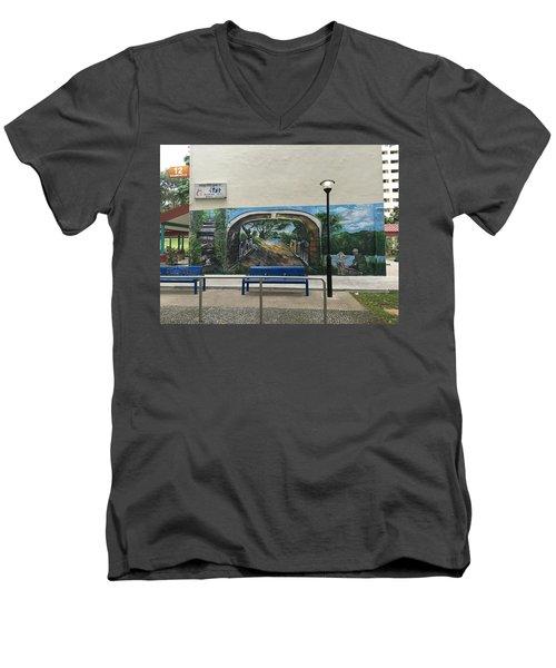Coloring Holland V Wall 1 - Memories Men's V-Neck T-Shirt by Belinda Low