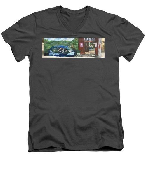 Coloring Holland V - Wall Three Men's V-Neck T-Shirt