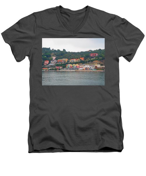 Men's V-Neck T-Shirt featuring the photograph Colors Along The Coast by Christin Brodie