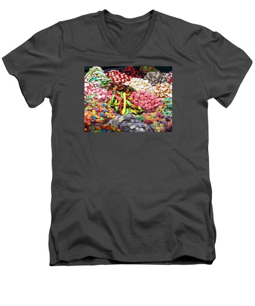 Men's V-Neck T-Shirt featuring the photograph Colors And Sweet by Arik Baltinester