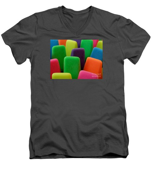 Colors Men's V-Neck T-Shirt by Chad and Stacey Hall