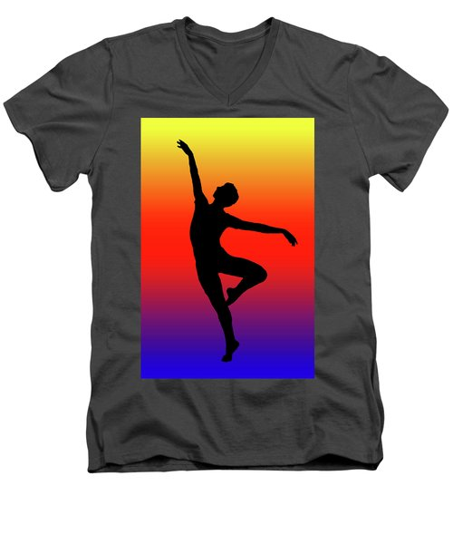 Colors Dance Men's V-Neck T-Shirt