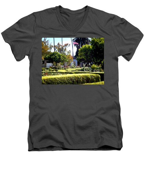 Men's V-Neck T-Shirt featuring the photograph Colors In The Garden by Glenn McCarthy Art and Photography