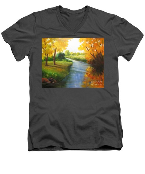 Colors Of Fall Men's V-Neck T-Shirt