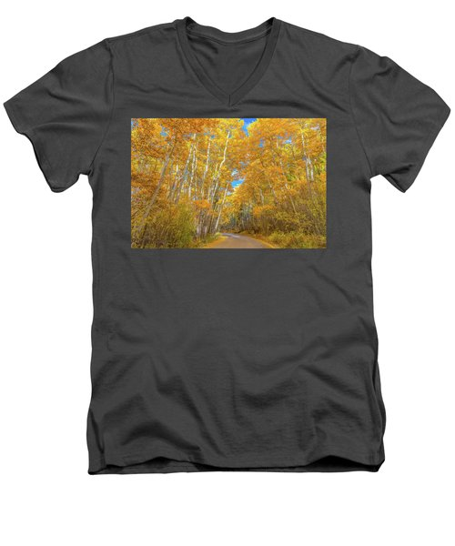 Men's V-Neck T-Shirt featuring the photograph Colors Of Fall by Darren White